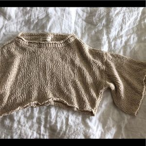 Urban outfitters knit cropped top
